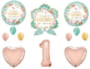 Details about Boho Wild One Arrow 1st Birthday Party Balloons Decoration  Supplies Rose Gold.