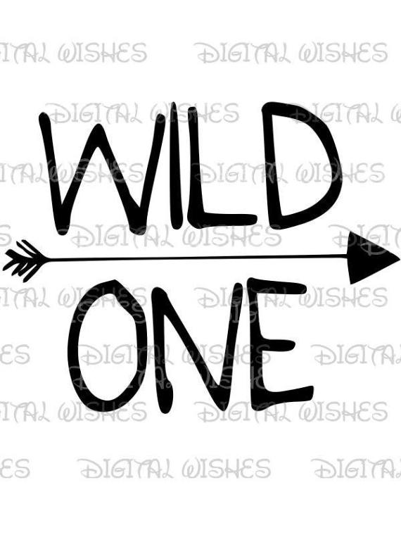 Wild one with arrow clip art Image printable art INSTANT.