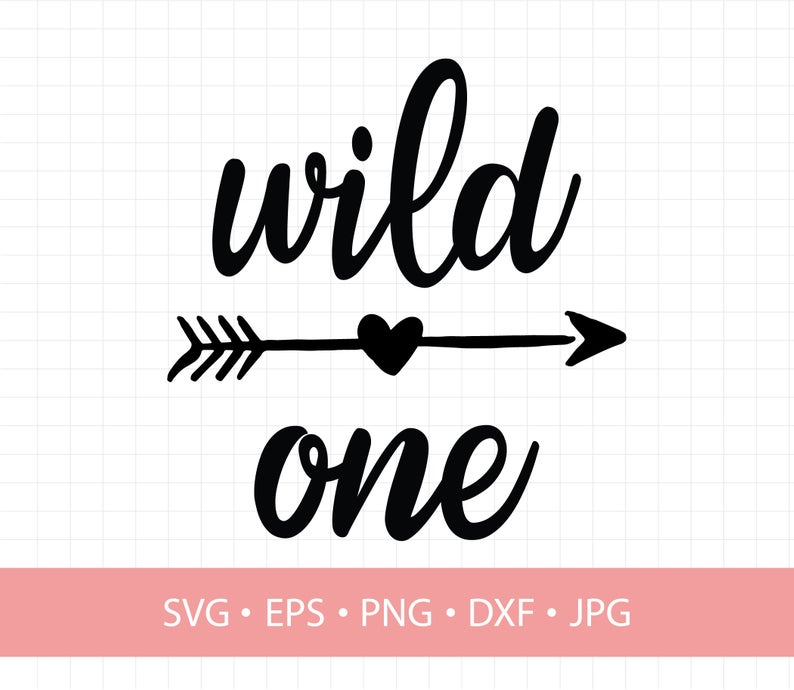 Wild One, wild and one svg, birthday svg, svg Clipart in eps dxf svg Cricut  and Silhouettesvg Clipart in eps dxf svg Cricut and Silhouette.
