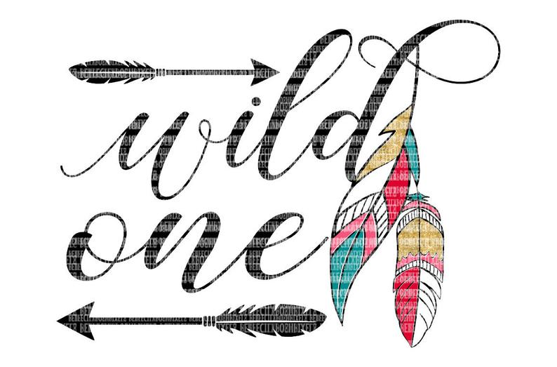 Wild One SVG Files Printable Clipart Cut Files SVG Clip Art Heat Transfer  Vinyl HTV iron on decal dxf png Cuttable File Scrapbooking.