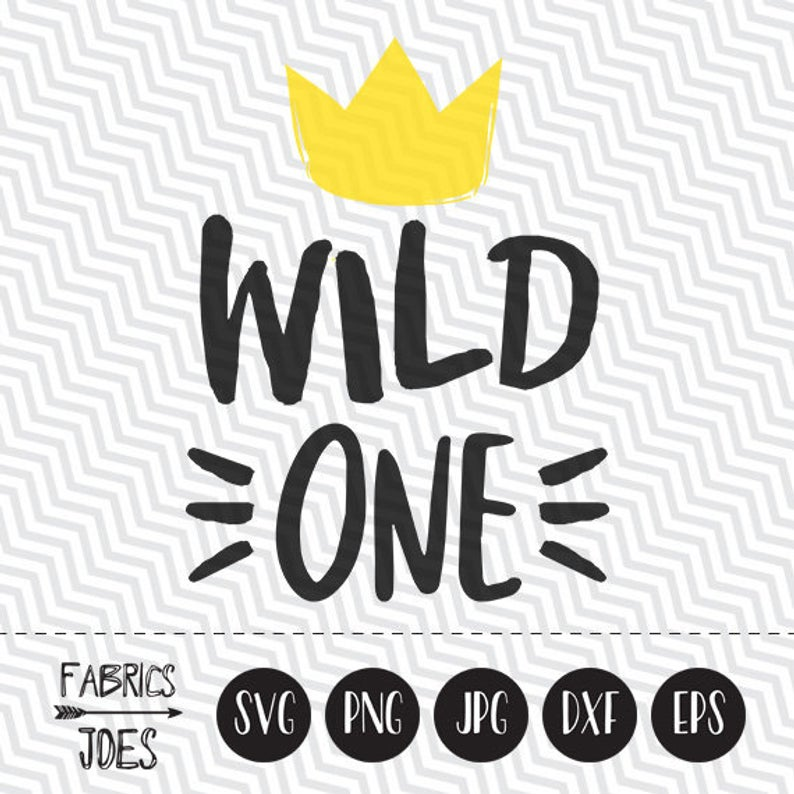 Wild One svg Baby First Birthday svg Wild and One Clipart in EPS DXF SVG  Cricut & Silhouette.