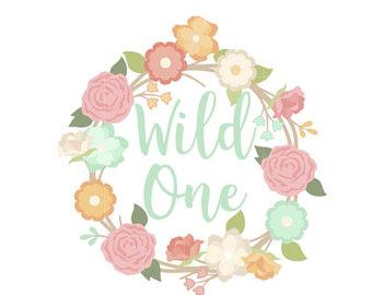 Wild One Birthday Clipart.