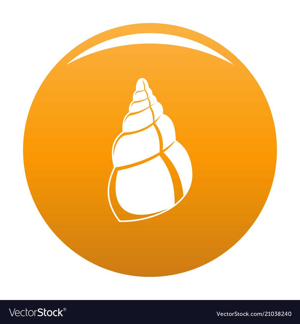 Wild shell icon orange.