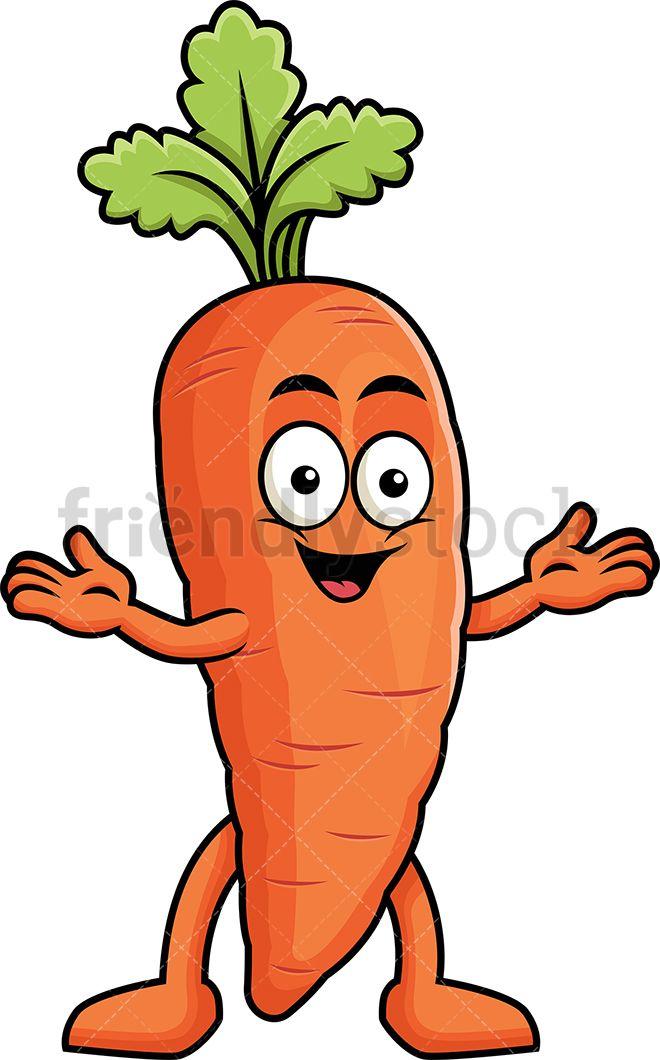Happy Carrot Mascot.