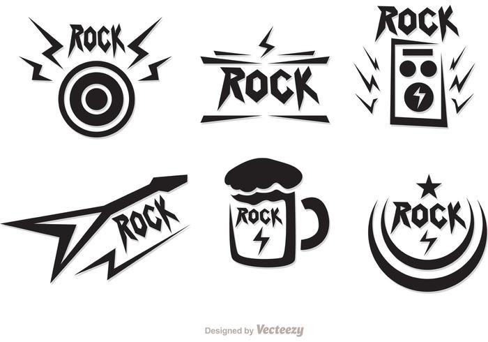 Rock Music Symbols Vectors Pack.