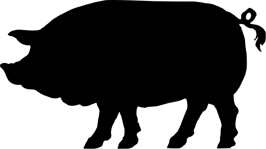 Free Pig Face Silhouette, Download Free Clip Art, Free Clip.