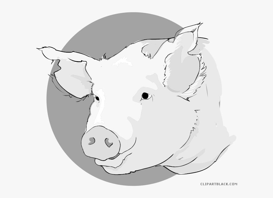 Pig Head Clipart.