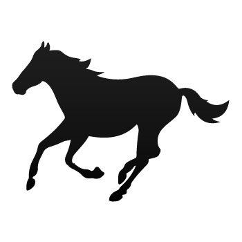 Running Horse Silhouette Clipart.