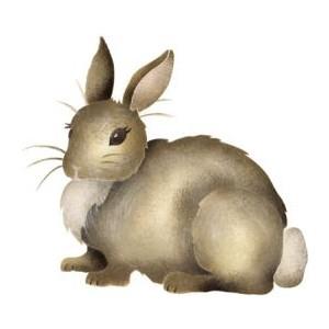Cute woodland bunny clipart.