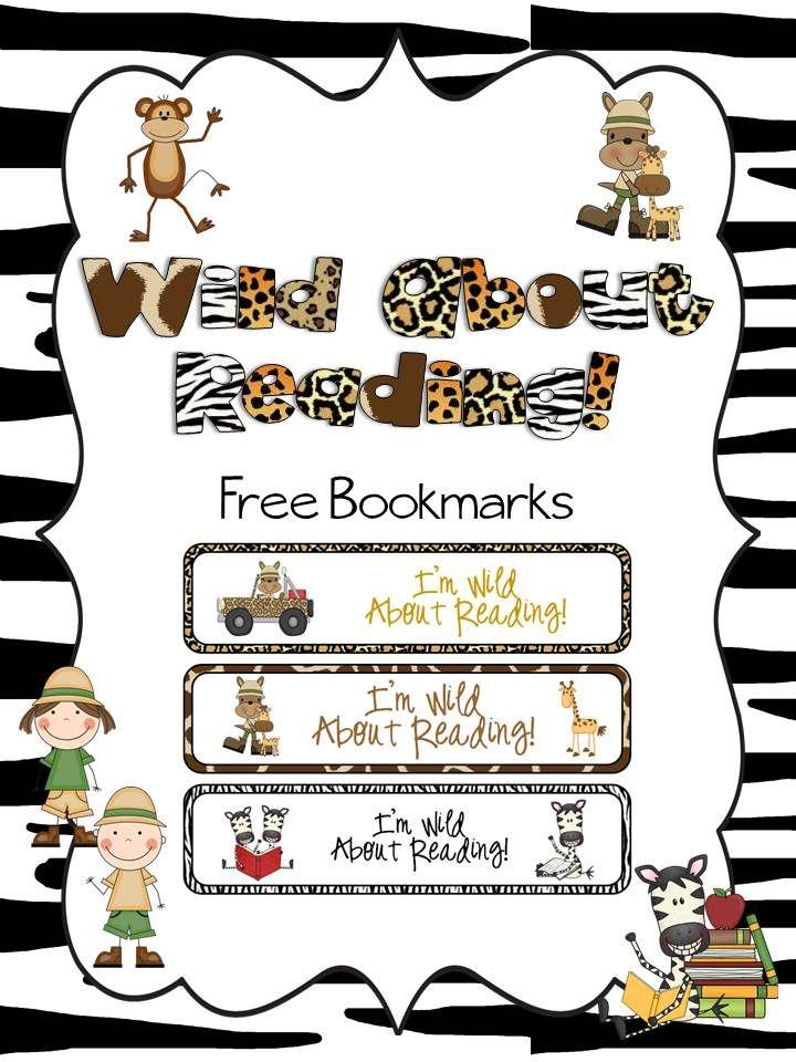 Wild Safari FREE bookmarks.