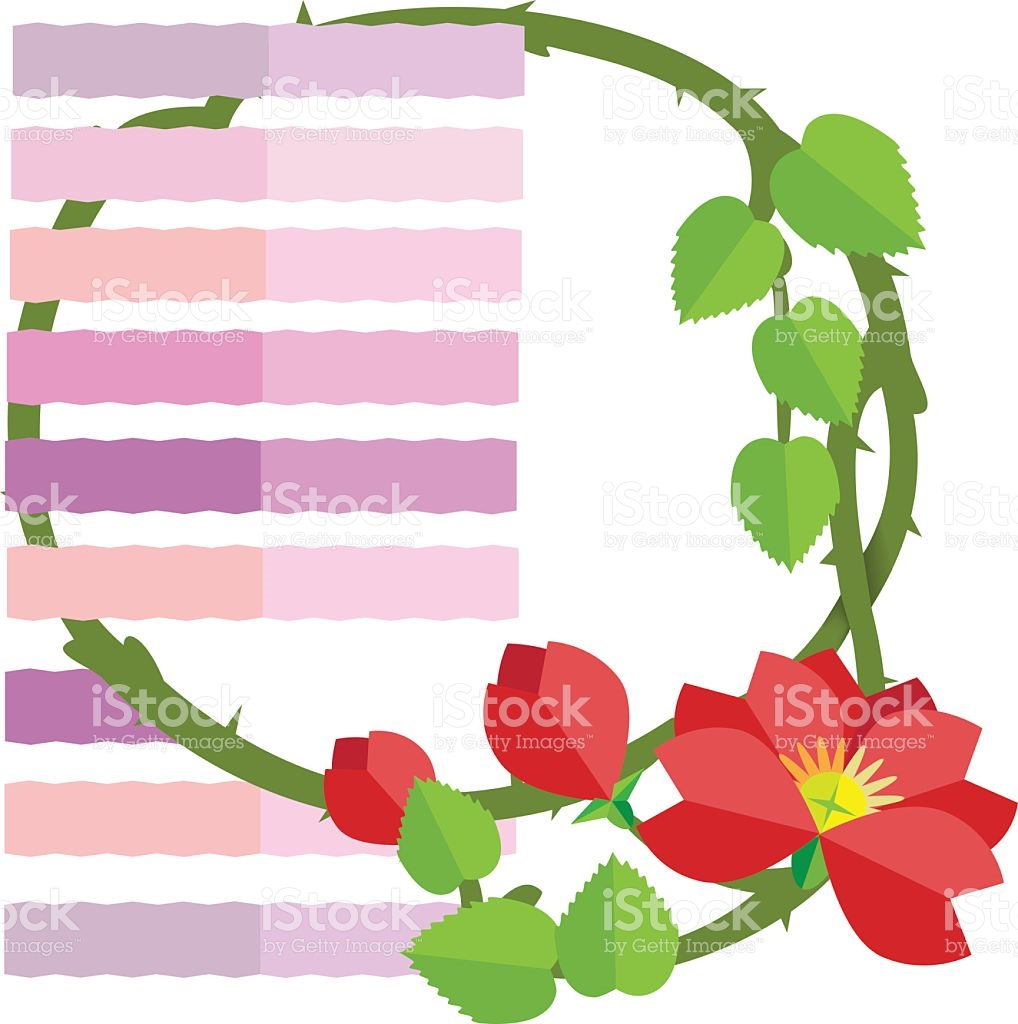 Wild Red Roses stock vector art 503363562.