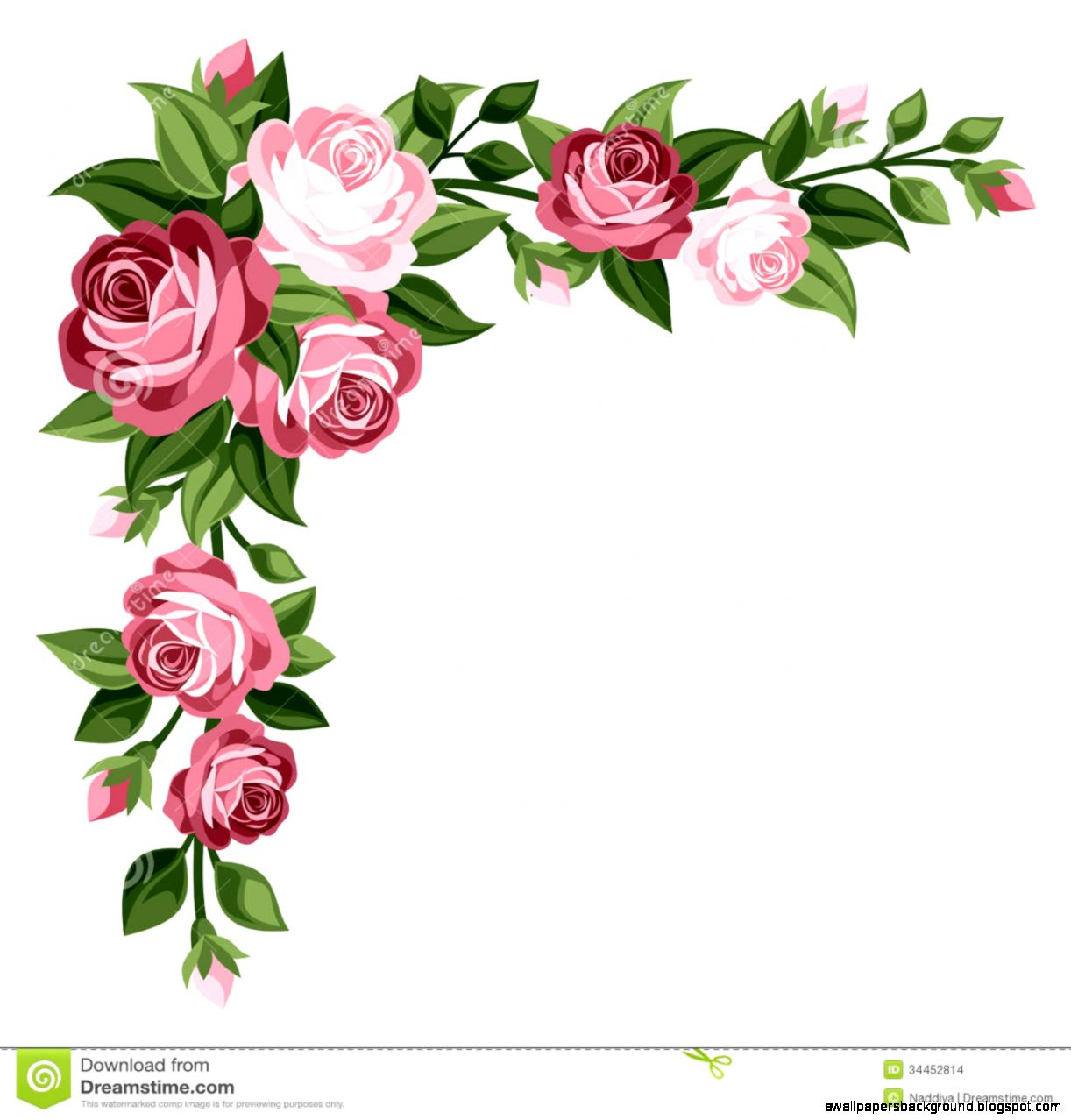 Similiar Wild Rose Clip Art Corners Keywords.