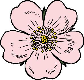 Wild Rose clip art Free Vector / 4Vector.