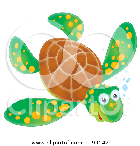 Royalty Free Sea Turtle Illustrations by Alex Bannykh Page 1.