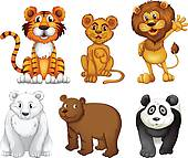 Four Legged Animals Clip Art.