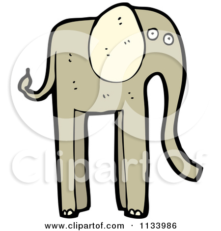 Cartoon of a Squirting Elephant.