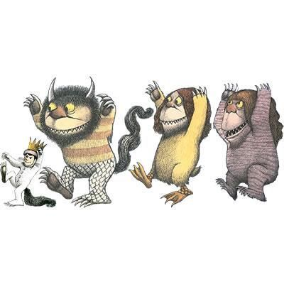 Exquisite Where The Wild Things Are Clip Art Wall Cling.