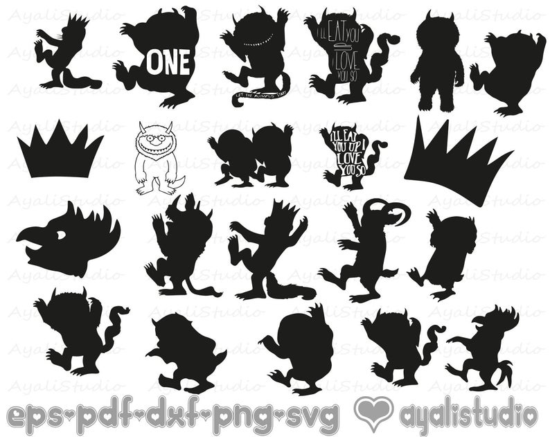Where The Wild Things Are Clip Art Group (+), HD Clipart.
