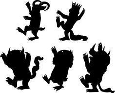 where the Wild Things Are, silhouettes.