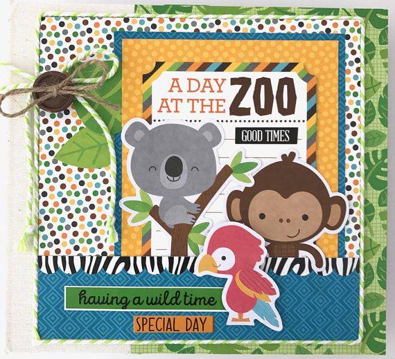 Zoo Scrapbook Album Kit or Premade Pre.