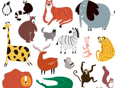 Great Free Animal Clipart for Your Next Cartoon Design.