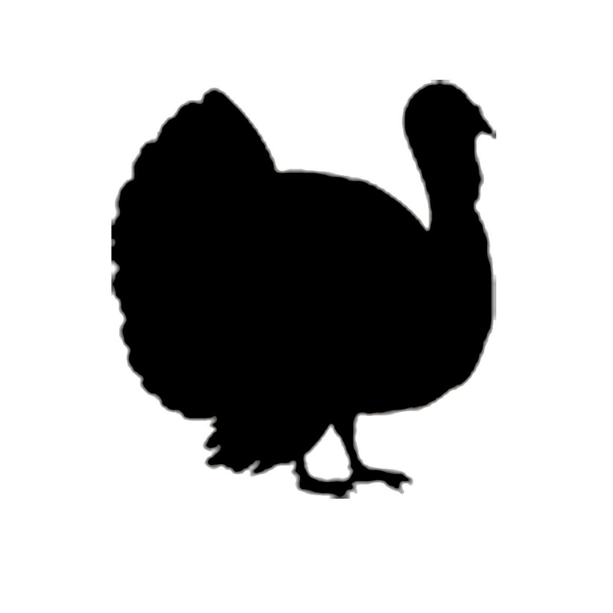 HD Turkey Gobbling Silhouette File Free » Free Vector Art.