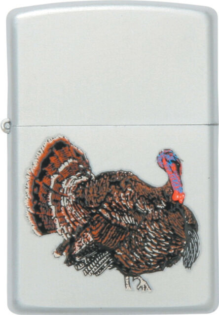 Zippo Lighters 23482 Wild Turkey Logo Lighter With Satin Chrome Finish  ZO23482.