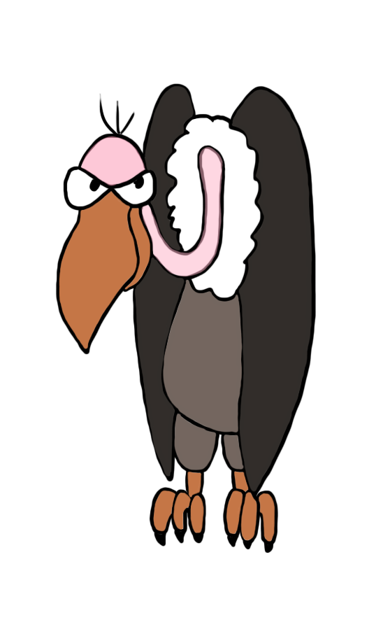 vulture drawing in color.