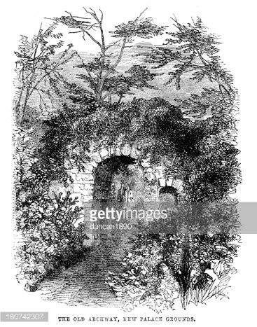 The Old Archway, Kew Palace\' Clipart Image.