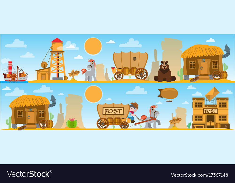 Wild west game background daily life cowboys.