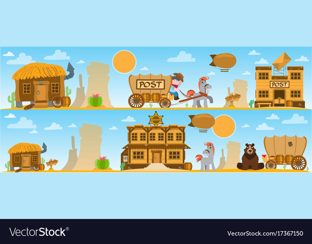 Wild west and american indian game background.