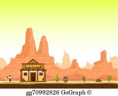Wild West Background Clip Art.