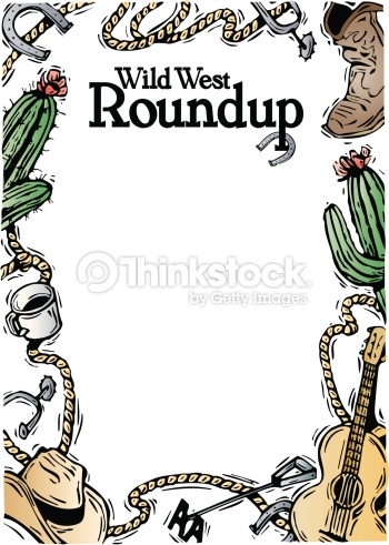 Wild west clipart western roundup.