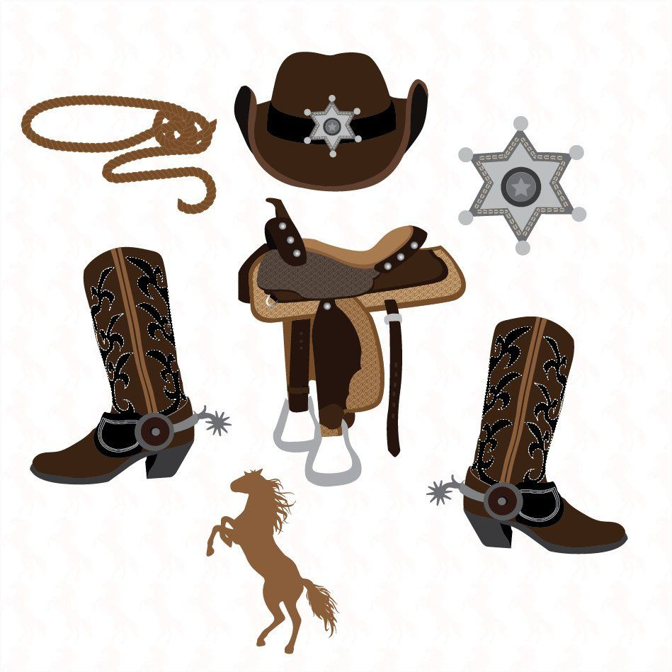 Western Cowboy clipart Graphics High Resolution Graphic.
