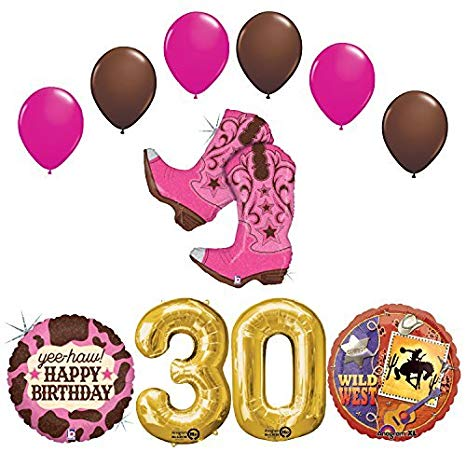 Amazon.com: Wild Wild West Sweet 30th Cowgirl Boots Birthday.