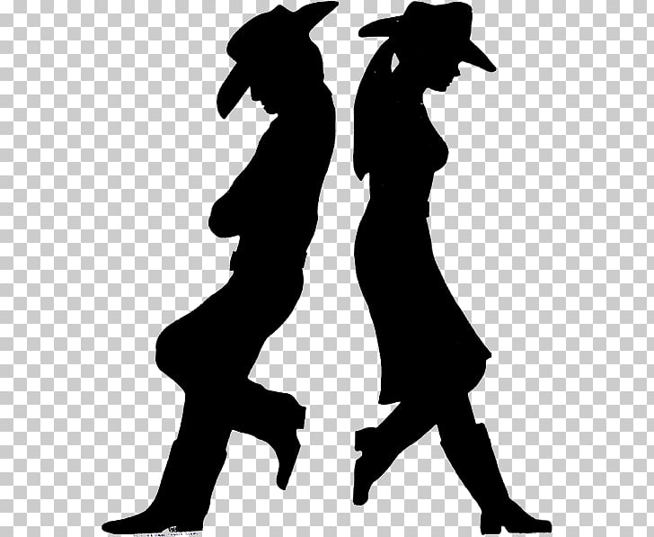 American frontier Cowboy Silhouette Drawing Western.