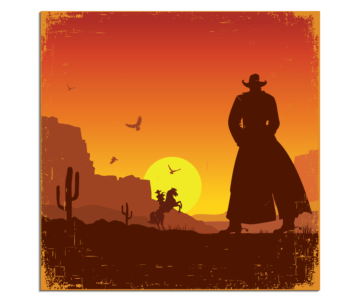 American frontier Western United States Poster.