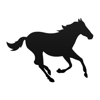 Decal Sticker Horse Mustang Silhouette Jumping Wild West.