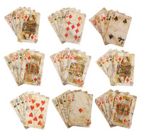 Wild West Poker Hands Stock Photos.