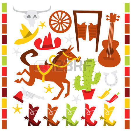 186 Western Theme Cliparts, Stock Vector And Royalty Free Western.
