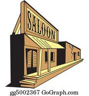 Saloon Clip Art.