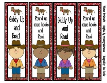 Western/Cowboy Themed Bookmarks.