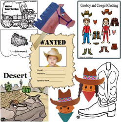 The Wild West Activities Crafts and Printables.