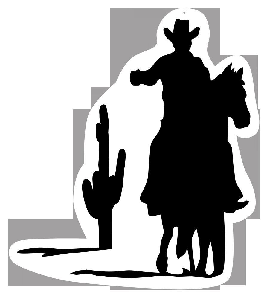 Cowboy Silhouette Clip art.