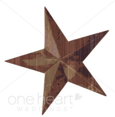 Rusty Metal Star Clipart.