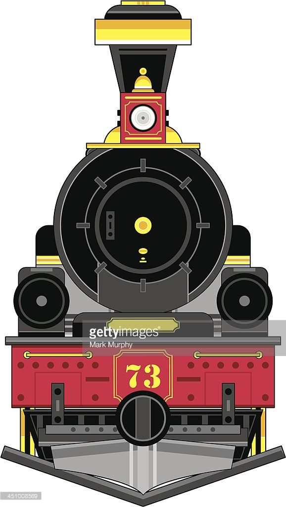 Vector Illustration of a cartoon Train Engine in a Wild West.