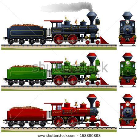 Steam Trains Side View Wild west steam locomotive. in 2019.