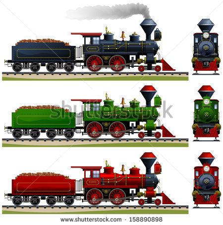Wild West steam locomotive. Pixel optimized. Elements are in.