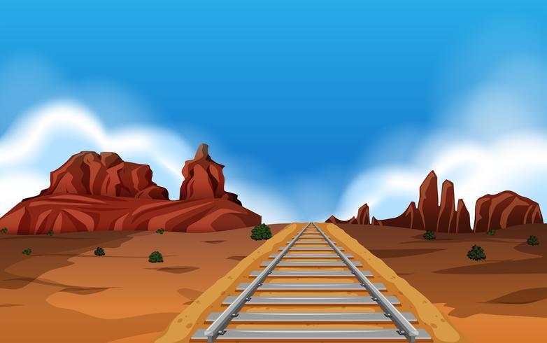 Train track in wild west background.