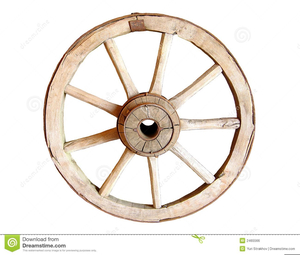 Old Wagon Wheels Clipart.